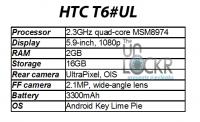 HTC T6 specifikacije razkrite