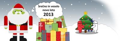 Srečno in veselo Novo leto 2013!