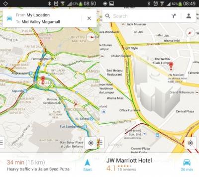 Google maps sveže posodobljen na 7.0