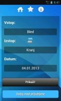 Zaslonska slika aplikacije