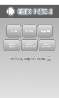 Kino sporedi - Slovenija